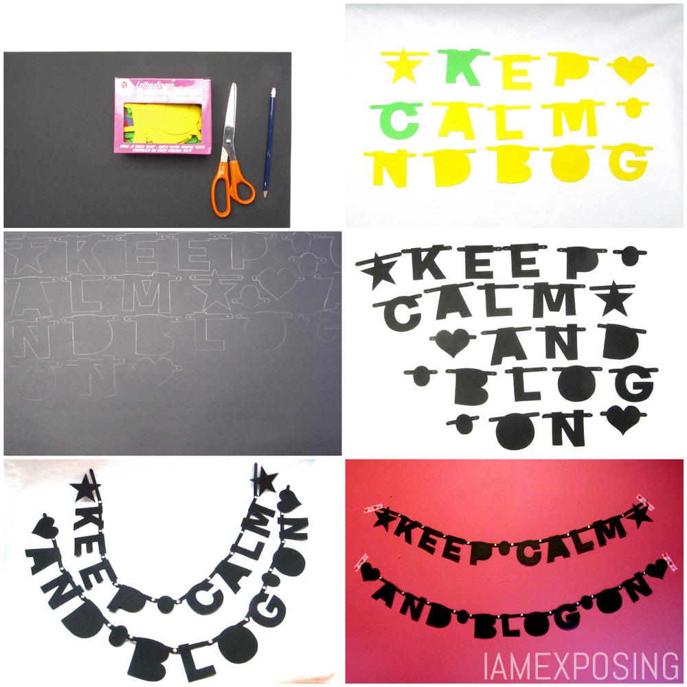 Diy letterslinger maken iamexposing for Gekleurd papier action